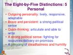 the eight by five distinctions 5 personal
