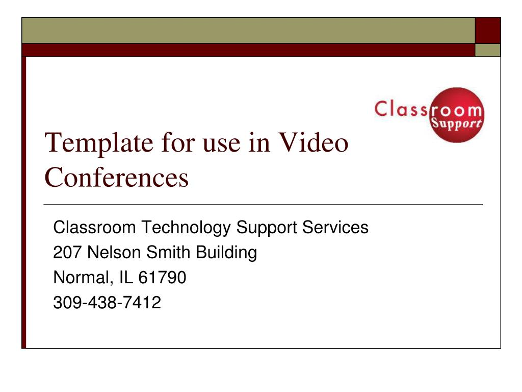 template for use in video conferences l.
