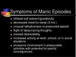 symptoms of manic episodes1