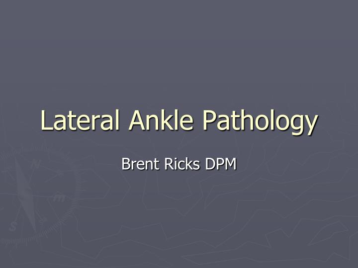 lateral ankle pathology n.