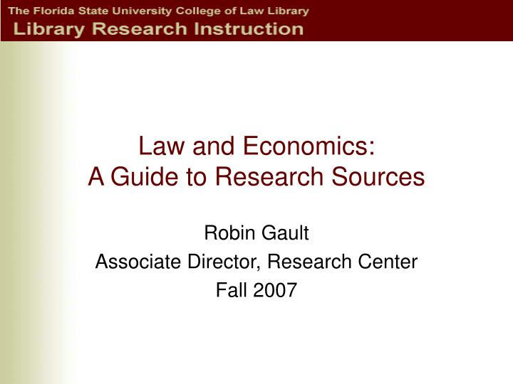 law and economics a guide to research sources n.