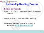 bottom up reading process