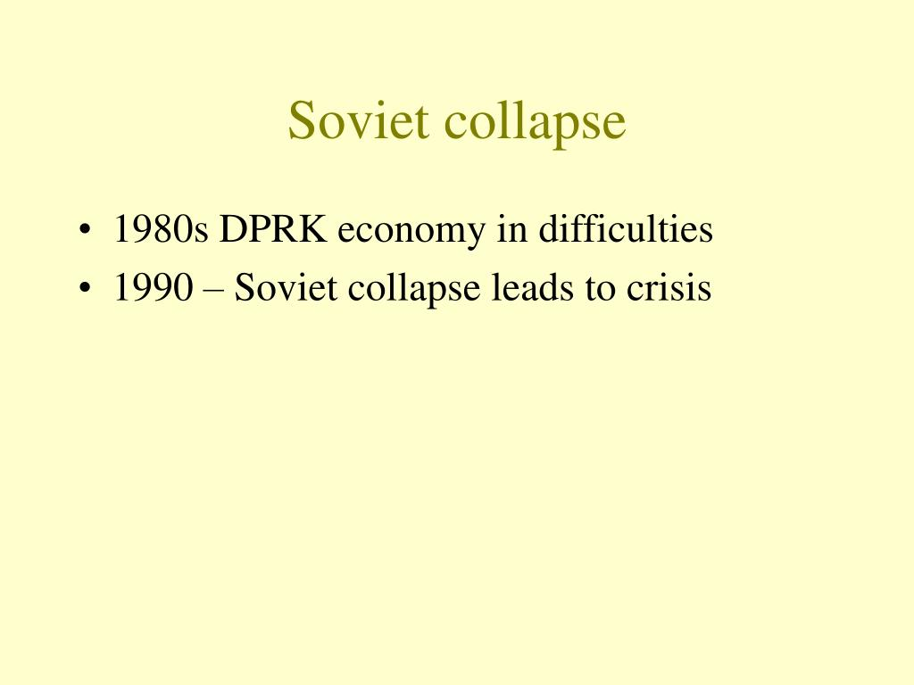 Soviet collapse