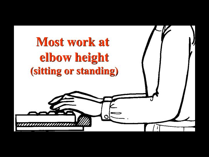 Height elbow drawing