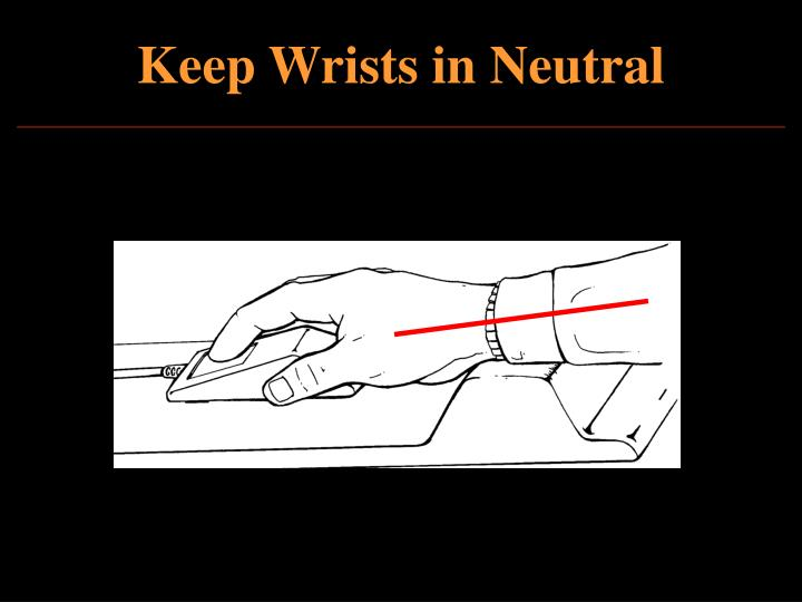 Keep Wrists in Neutral