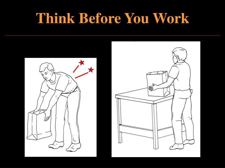 Think Before You Work