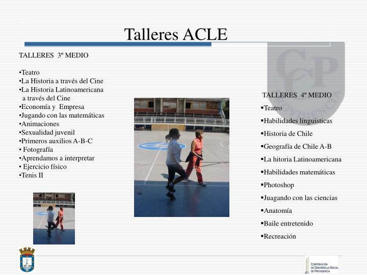Talleres ACLE