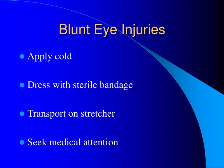 Blunt Eye Injuries