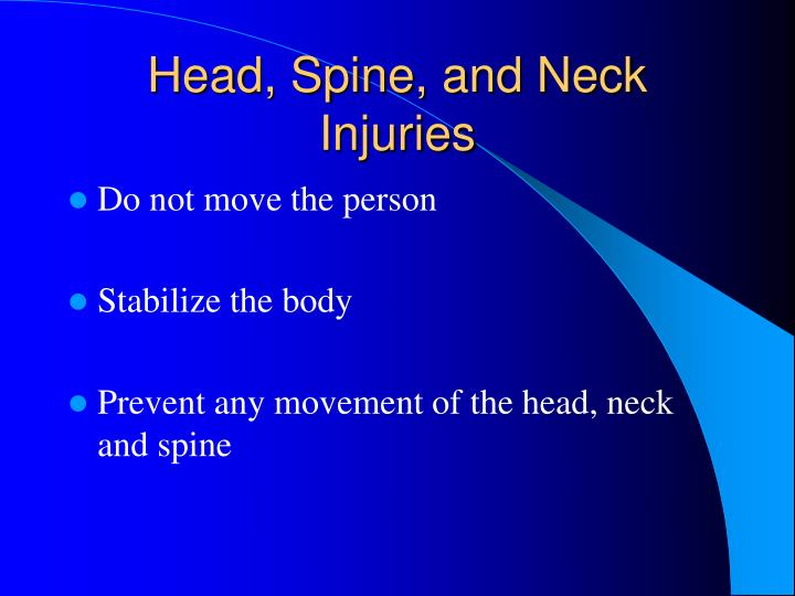 Head, Spine, and Neck Injuries