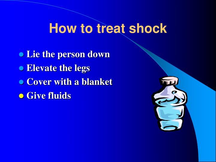 How to treat shock