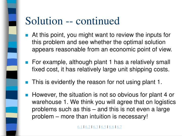 Solution -- continued