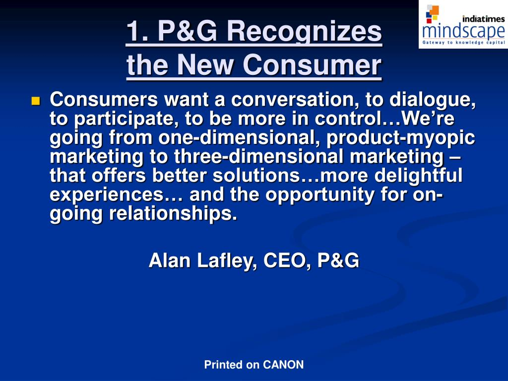 1. P&G Recognizes