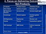 4 focus on delivering outcomes not products