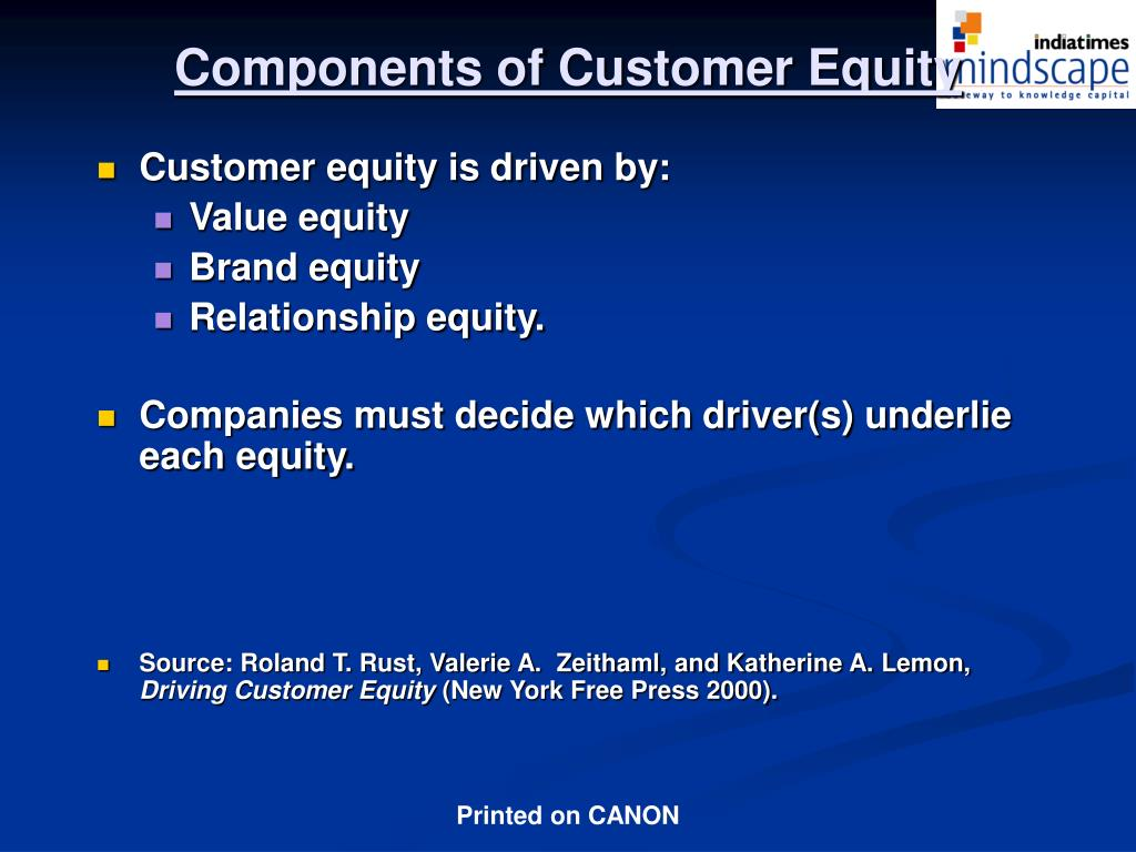 Components of Customer Equity