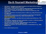 do it yourself marketing