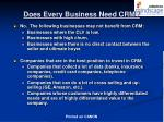 does every business need crm
