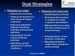 dual strategies