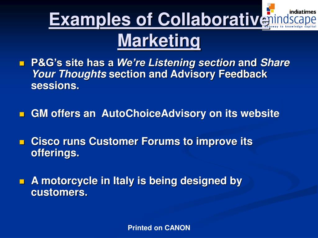 Examples of Collaborative Marketing
