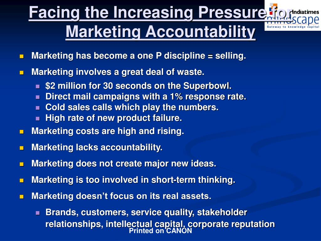 Facing the Increasing Pressure for Marketing Accountability