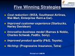 five winning strategies
