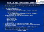 how do you revitalize a brand