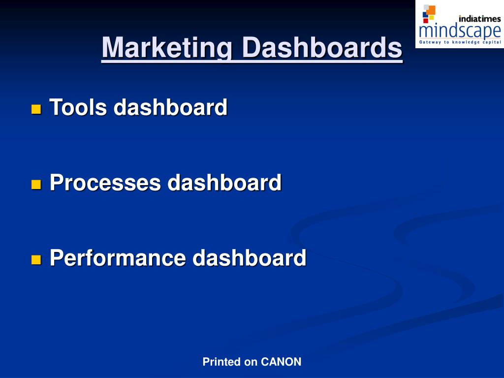 Marketing Dashboards
