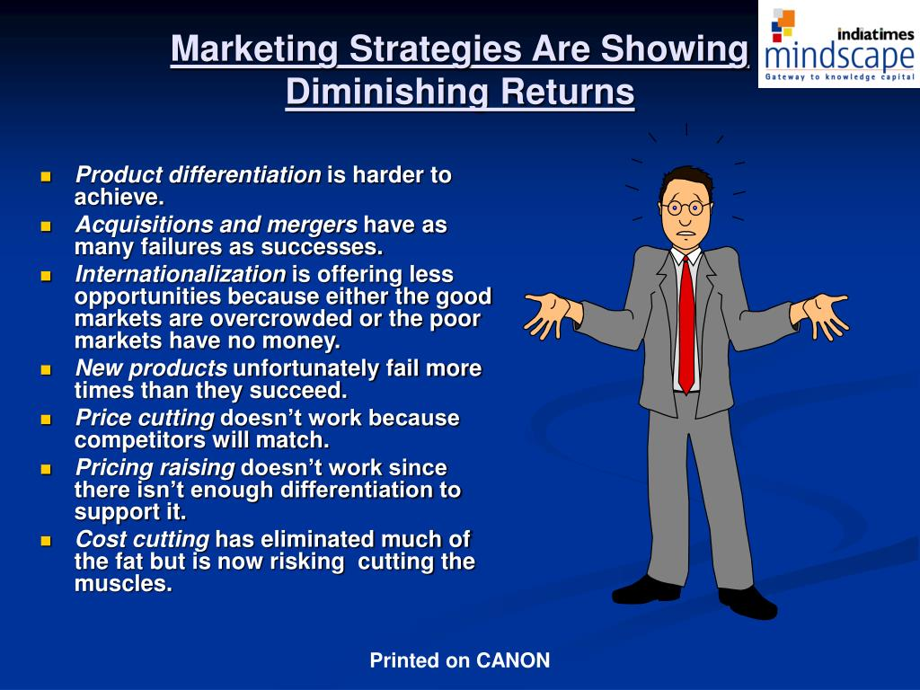 Marketing Strategies Are Showing  Diminishing Returns