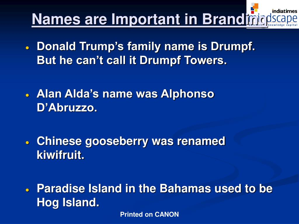 Donald Trump's family name is Drumpf. But he can't call it Drumpf Towers.