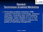 needed technology enabled marketing