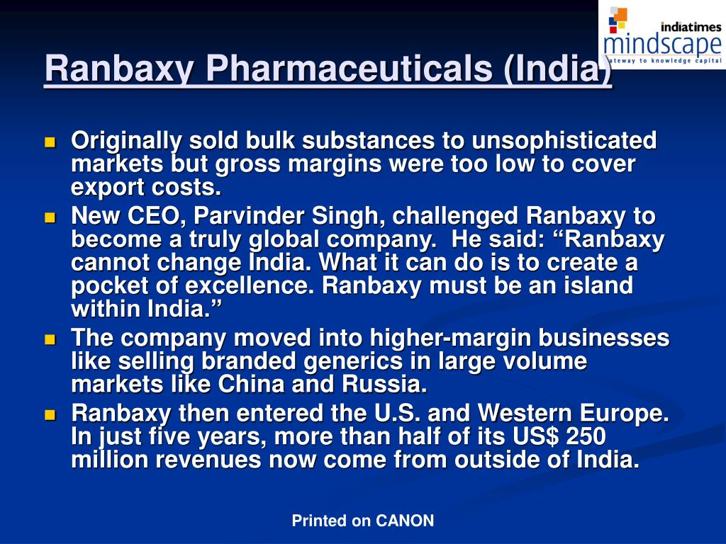 Ranbaxy Pharmaceuticals (India)