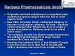 ranbaxy pharmaceuticals india