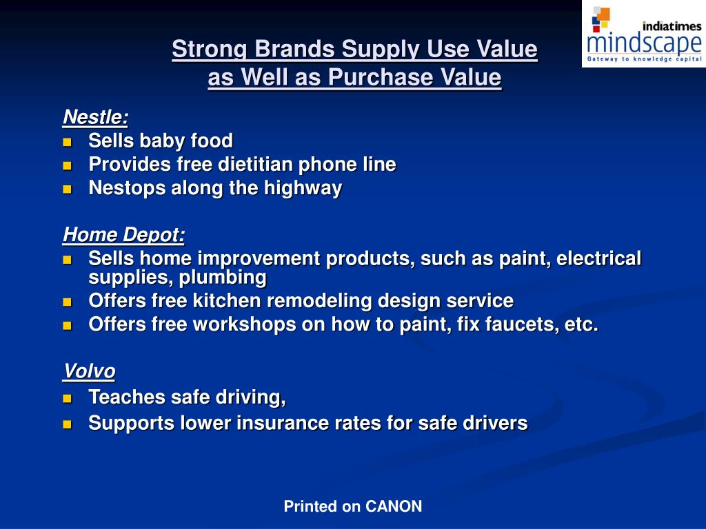 Strong Brands Supply Use Value