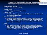technology enabled marketing examples