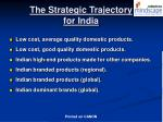 the strategic trajectory for india