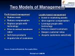 two models of management