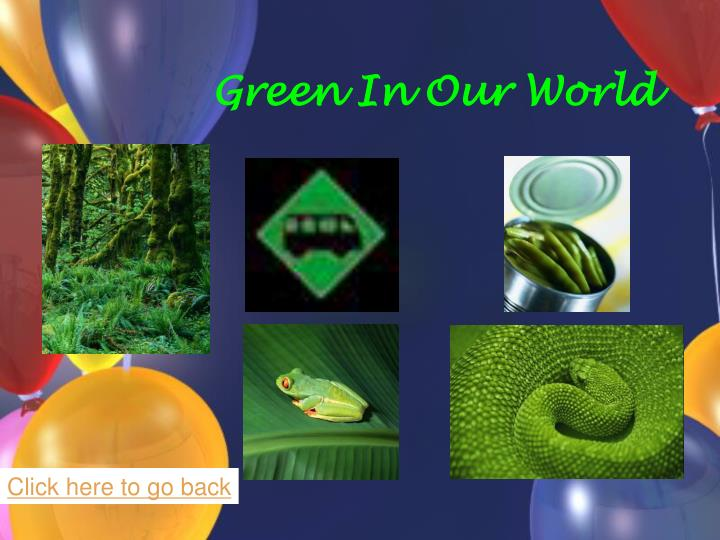Green In Our World