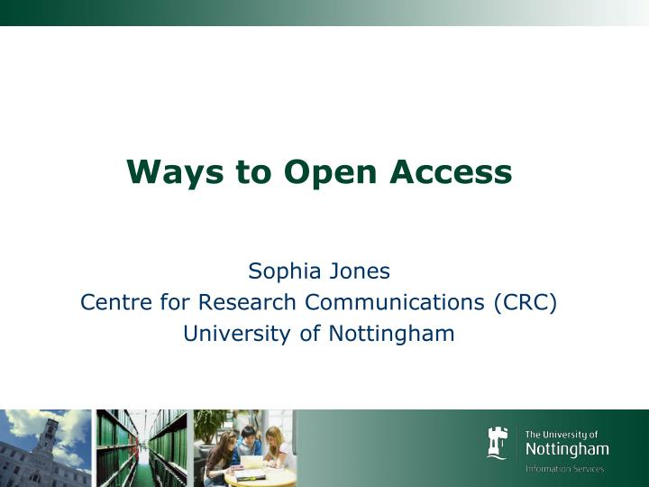 ways to open access n.