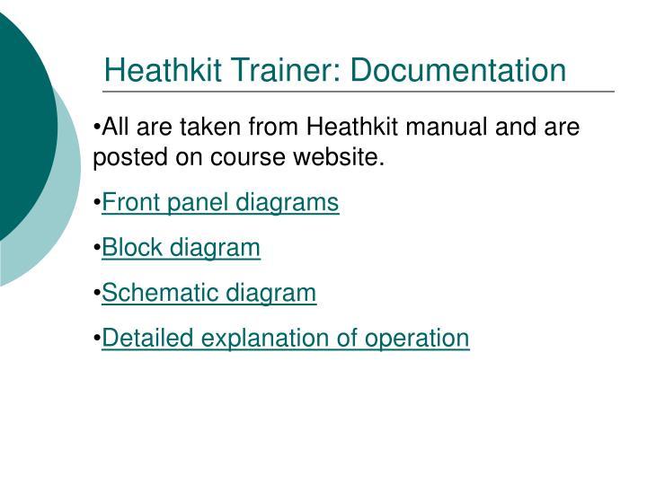 Heathkit Trainer: Documentation