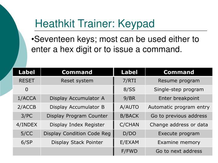 Heathkit Trainer: Keypad