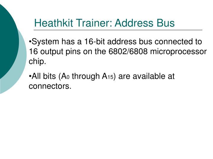 Heathkit Trainer: Address Bus