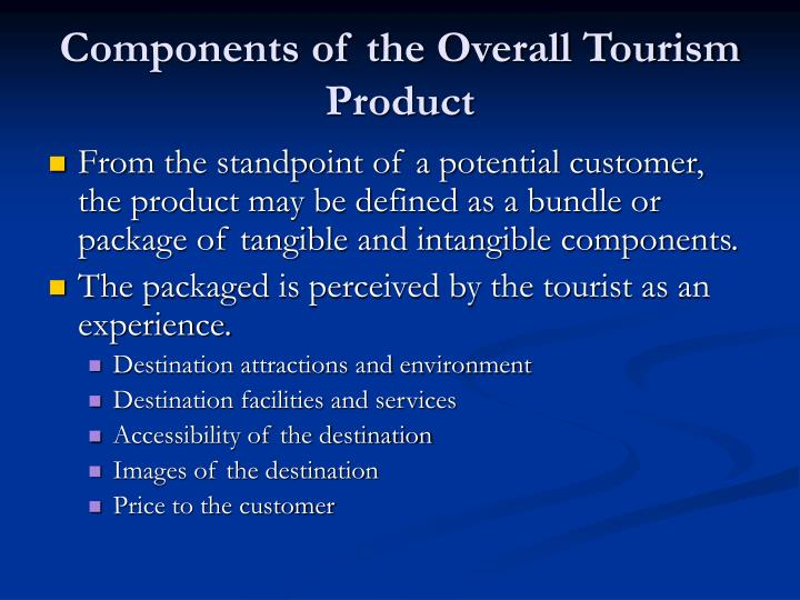 Components of the Overall Tourism Product