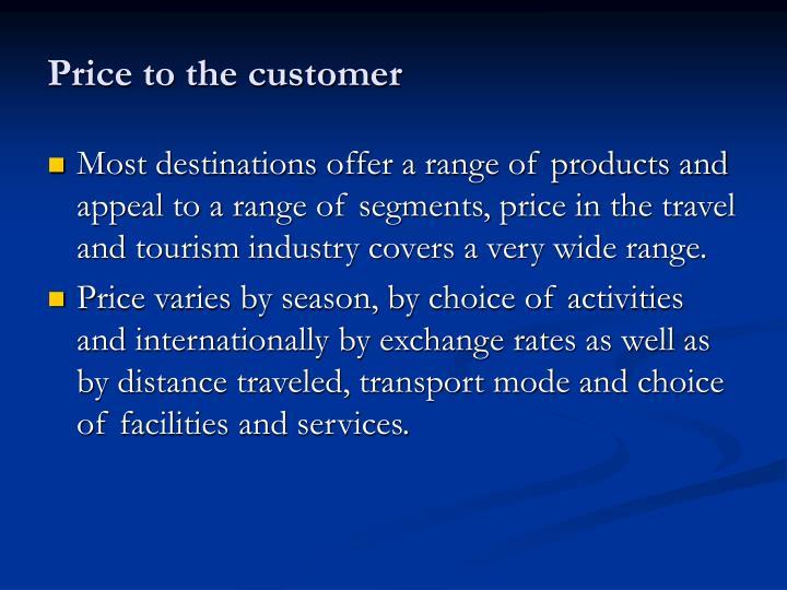 Price to the customer