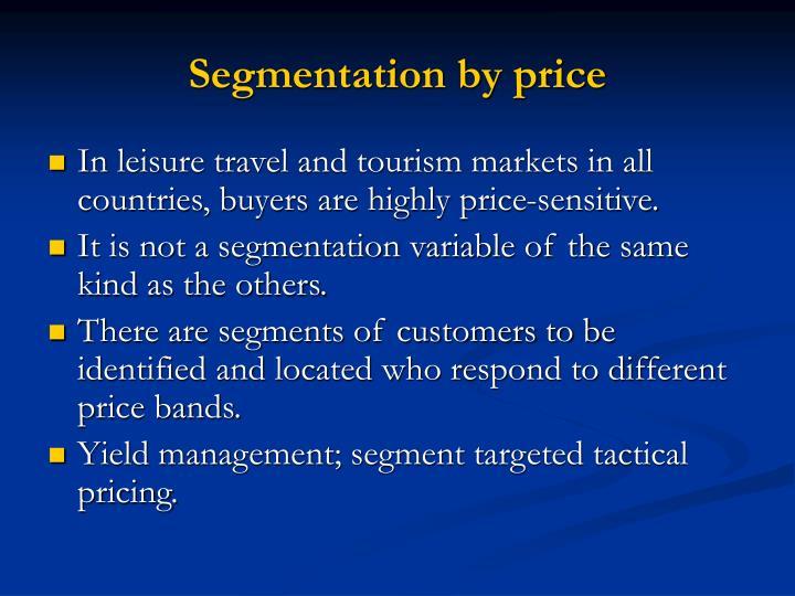 Segmentation by price