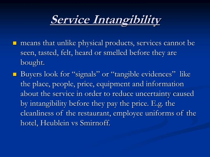 Service Intangibility