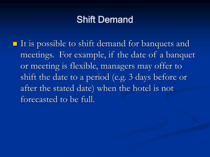 Shift Demand