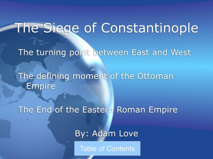 the siege of constantinople n.