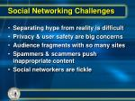 social networking challenges
