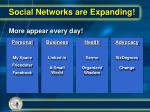 social networks are expanding