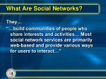 what are social networks