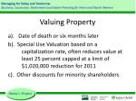valuing property